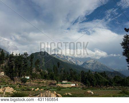 A Village In Kalam Swat Valley Of Pakistan