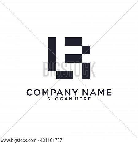 Lf Or Fl Initial Letter Logo Design Vector On White Background.