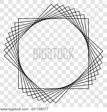 Abstract Frame On Transparent Background. Vector Illustration