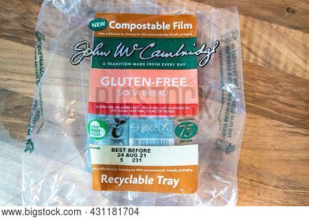 Donegal, Ireland - August 24 2021 : John W Cambridge Uses Compostable Film For Package