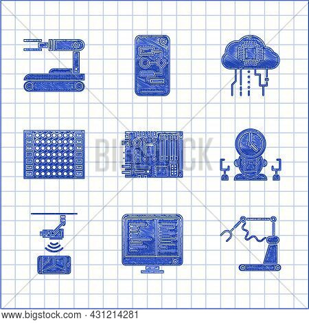 Set Electronic Computer Components Motherboard Digital Chip, Robot Time Manager, Wireless Controllin