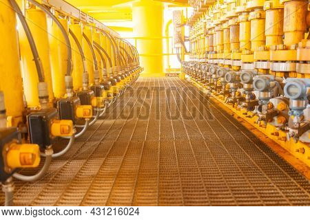 Control Valve In Oil And Gas Process,valve Used To Controlled Pressure,open And Close,show Position