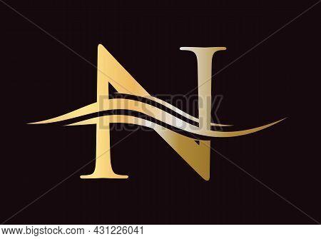 N Logo Template. Initial Monogram Letter N Logo Design Vector. N Letter Logo Design With Modern Tren