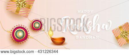Happy Raksha Bandhan Beautiful Traditional Banner Design