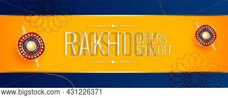 Happy Raksha Bandhan Traditional Sale Banner Design