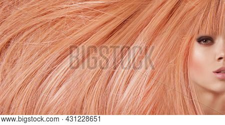 Woman Beautiful Dyed Hair, Background Hairstyle Glamour