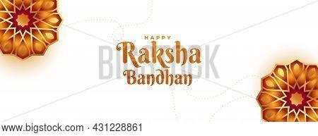 Raksha Bandhan Decorative Banner Vector Design Illustration