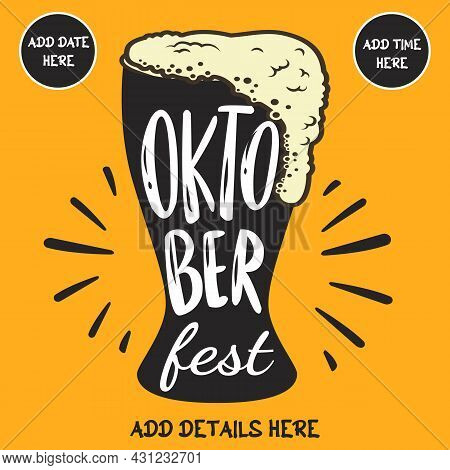 Beer October Fest Social Media Post Web Banner Flyer Template Design