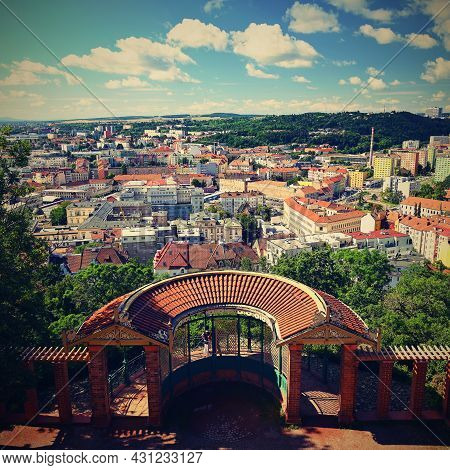 City Of Brno - Czech Republic - Europe. Beautiful Views Of The City And Houses On A Sunny Summer Day