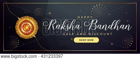 Stylish Indian Raksha Bandhan Shiny Banner Design