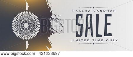 Abstract Raksha Bandhan Sale Banner Vector Design Illustration