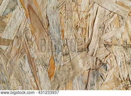 Yellow Background Surface Of Compressed Yellow Wood Splinters And Sawdust