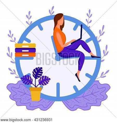 Woman Sitting Clock Arrows 6 Dd Ww Isol