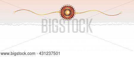 Raksha Bandhan Rakhi Design On Torn Paper Banner Vector Design Illustration
