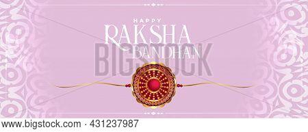 Raksha Bandhan Traditional Decorative Festival Banner Vector Design Illustration