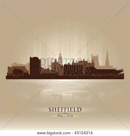 Sheffield England Skyline City Silhouette