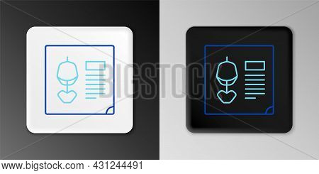 Line X-ray Shots Icon Isolated On Grey Background. Colorful Outline Concept. Vector