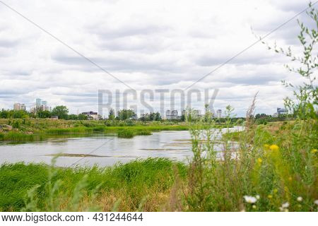 Landscape On The Ishim River In Kazakhstan