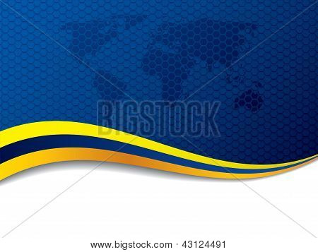 Company Background Design With World Map