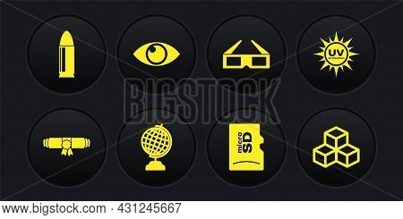 Set Diploma Rolled Scroll, Uv Protection, Earth Globe, Micro Sd Memory Card, 3d Cinema Glasses And E