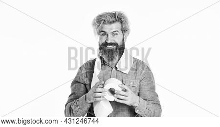 Rushed Panic Buy Toilet Paper. Toilet Paper Roll. Hipster Holding Toilet Paper. Soft To Skin. Proble