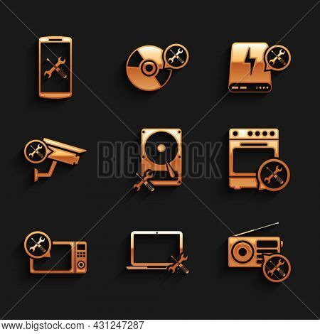 Set Hard Disk Drive Service, Laptop, Radio, Oven, Microwave Oven, Security Camera, Power Bank And Sm