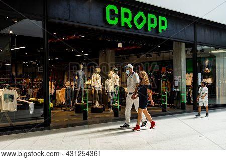 People At The Shopping Mall. Dambovita Mall In Targoviste, Romania, 2021
