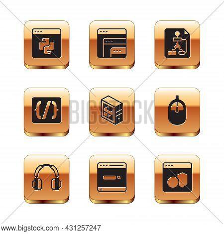 Set Python Programming Language, Headphones, Search Engine, Computer, Programming Syntax, Flowchart,