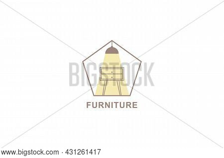 Interior Logo Isolated On White Background. Interior Icon Thin Line Outline Linear Nest Symbol For L