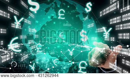 Currency Exchange Global Foreign Money Finance Conceptual - International Forex Market With Differen