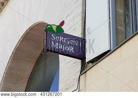 Bordeaux , Aquitaine  France - 08 25 2021 : Sergent Major Logo Brand Store Sign Text Shop Chain Of C