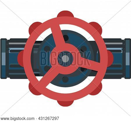 Water Fittings. Pipeline For Various Purposes. Installation And Repair Service Symbol. Illustration