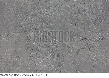 Bumpy Gloss Ultimate Gray Painted Concrete Wall - Seamless Texture And Flat Background