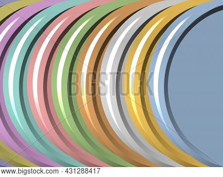 Abstract colorful 3d semi circular pattern for background use