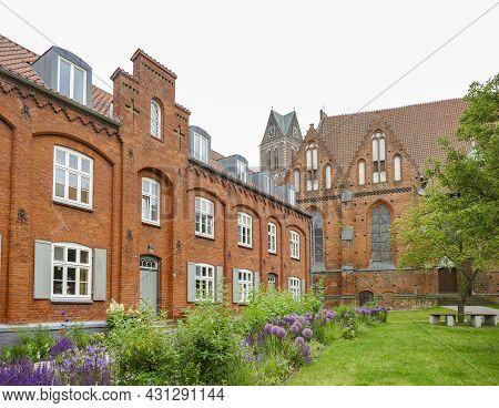 Impression Around The Heiligen-geist-kirche In Wismar, A Hanseatic City In Northern Germany