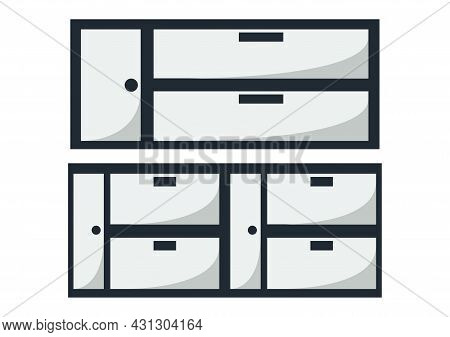 Wardrobe Design With Two Different Wardrobe Types With Modern Design