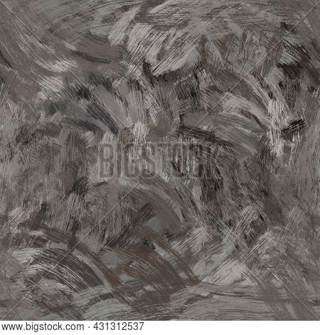 Seamless Abstract Painted Brushed Texture. Spikey Material Pattern Background. Grunge Rough Colour W