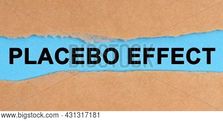 Medicine Concept. The Paper Is Ripped In The Middle. Inside On A Blue Background It Is Written - Pla