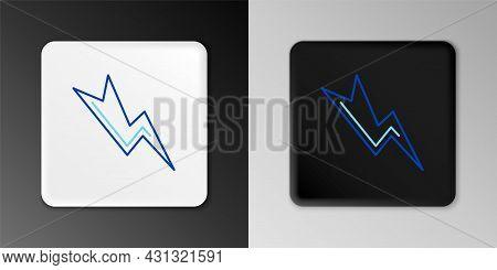 Line Lightning Bolt Icon Isolated On Grey Background. Flash Sign. Charge Flash Icon. Thunder Bolt. L