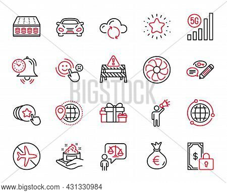 Vector Set Of Business Icons Related To Time Management, Keywords And Twinkle Star Icons. Lawyer, Ca