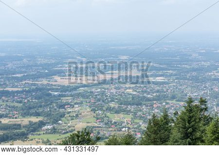 Landscape In The Region Of Beskid Maly, From The Top Of Hrobacza Laka In Poland