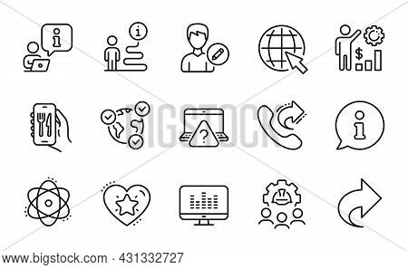 Technology Icons Set. Included Icon As Online Voting, Engineering Team, Ranking Star Signs. Share Ca
