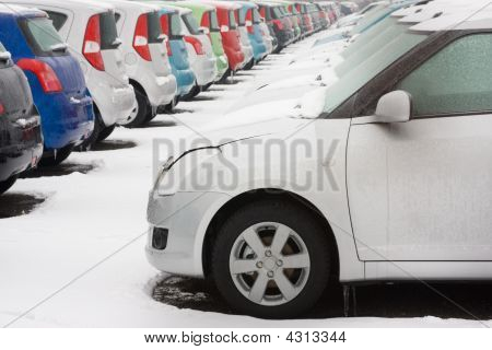 Stocked Cars In Rows