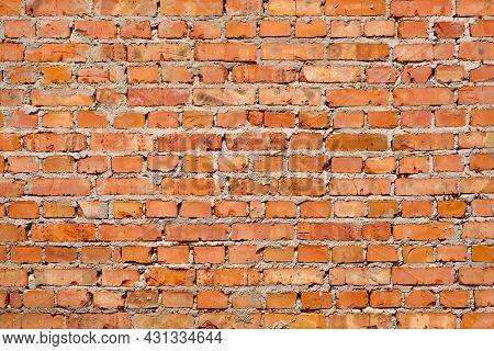 Red Brick Pattern Wall Background Material. Masonry Construction Stone Texture Brick Wall Loft Backg