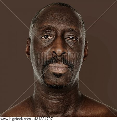 Portrait of an African American man isolated