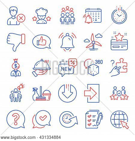 Business Icons Set. Included Icon As Remove Account, Security Agency, Survey Checklist Signs. Loyalt