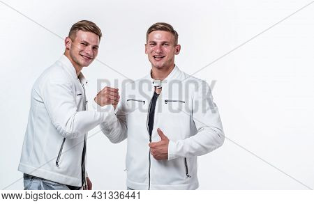 Young Twin Brothers With Similar Appearance, Togetherness