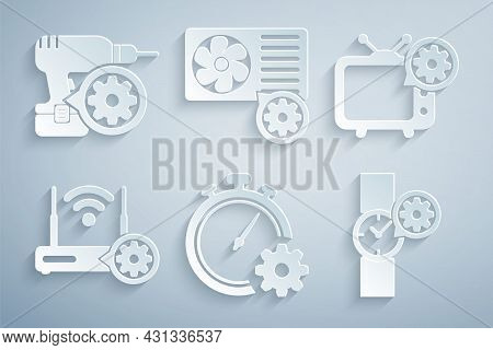 Set Time Management Setting, Tv, Router And Wi-fi, Wrist Watch, Air Conditioner And Drill Machine Ic