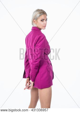 Fashionable Lady With Blonde Hair. Beauty And Fashion. Female Fashion Model.