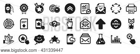 Set Of Technology Icons, Such As Time Management, Organic Product, Swipe Up Icons. Diagram Graph, Ra